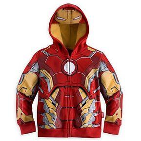 55890a1ad Caroon Iron Man Sudaderas Con Capucha Niños Chaquetas De Primavera Otoño  Outwear - Rojo