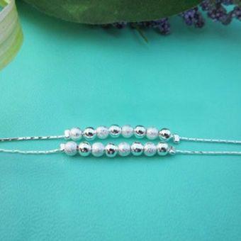 la nueva joyera de moda lucky mujer pulsera granos de la bola de plata frosted
