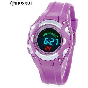 076d9d06acd8 3C MINGRUI 8528019 Reloj Digital Para Niños LED Light Fecha Reloj  Cronógrafo Para Día 3ATM Reloj