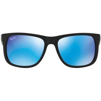 468e390904 Compra Lentes Ray Ban Originales Justin Negro Azul Espejado RB4165 ...