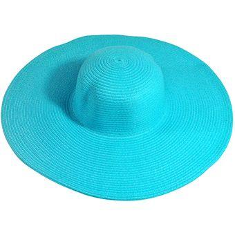 289fac9fc6a53 E-Thinker Sombrero Para El Sol Para Playa Sombrero Grande Gorra-Azul Cielo