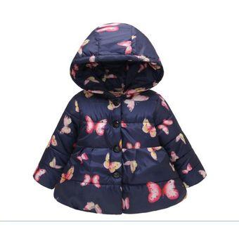 afbec809c Compra Chaqueta Abrigo con capucha para niñas Fashion-cool-Azul ...