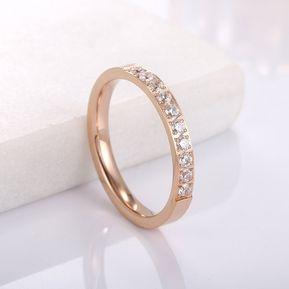 1641ac2c6cff EY Las mujeres de moda de aleación de anillo y zirconio cúbico Boda Fiesta  de dedos