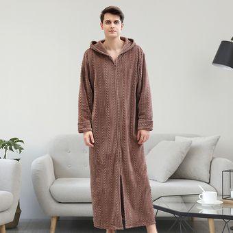 precio competitivo colores y llamativos vendido en todo el mundo Hombre Bata De Dormir Cálido Albornoz Ropa De Dormir Pijama Masculino Con