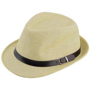 ER Elegante Sombrero De Paja Del Verano Del Casquillo Del Sombrero Salacot  Fedora Trilby Panamá Casquillo 3fa2f4ec290d