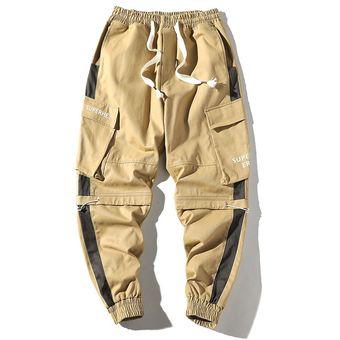 Primavera Hombre Pantalones Nueva Moda Streetwear Joggers Pantalones Casual Pantalones Largos Hombres Hip Hop Cintura Elastica Pantalones Cui Khaki Linio Peru Ge582sp0pyrhnlpe