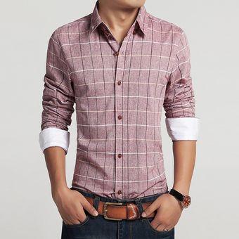 Camisa De Vestir De Algodón Para Hombre Camisas Para Hombres Slim Fit