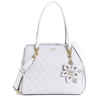 f773b3c668 Compra Cartera Guess Sibyl Logo Box Satchel Para Mujer-Blanco online ...