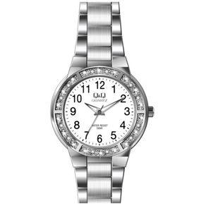 a7ab64325b10 Agotado Reloj Q Q Dama Elegante Modelo Pequeño Referencia Q691J201Y Original  Pulso en acero Inoxidable Tablero - Blanco