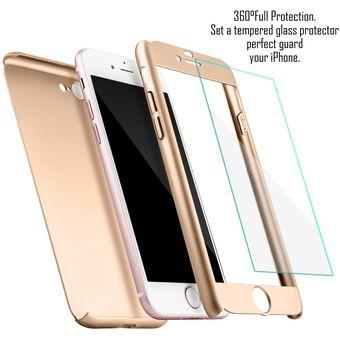 91c3a47d426 Agotado Funda 360° Para IPhone 7 Y 8 De Policarbonato Y Mica De Cristal  Templado GOGO