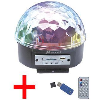 84b6b11a260 Agotado Esfera Luz Luces LED Disco Dj Magic Ball Con Bocina Sd 3 Leds  Control Remoto Gratis