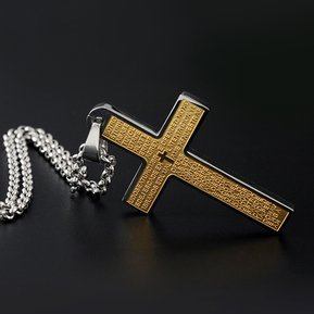 483be18b9a08 Colgante Del Collar De Los Hombres De Acero Inoxidable De Moda-oro