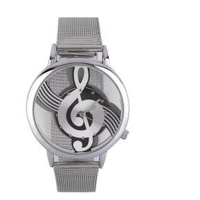 b6fb8600bac6 ER Diseño De Nota Musical Unisex Relojes De Cuarzo Analógico Correa De  Acero De Malla De