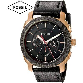 06b812a248e9 Reloj Fossil Machine FS5120 Acero Inoxidable Correa De Cuero - Negro Dorado