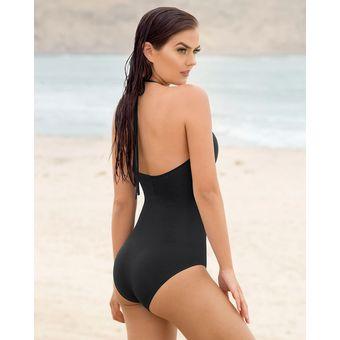 4883a09a1 Vestido De Baño Entero Con High Neck En Macramé - VESTIDO DE BAÑO 1PZ Negro  LEONISA