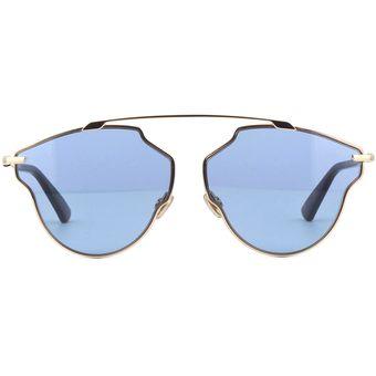 3c11c5c39dd44 Agotado Lentes De Sol Dior So Real Pop DDBKU -Oro Rosa Lente Azul Brillante