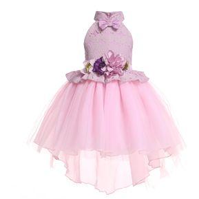 9816c4d42 Vestido de encaje para niñas Vestido de niña de flores Falda Vestido de  pajarita