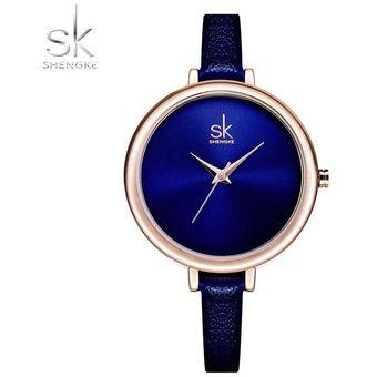 b6ab057c520d Compra Reloj Mujer Cuarzo Reloj Pulsera Simple Cuero Reloj-Azul-Azul ...