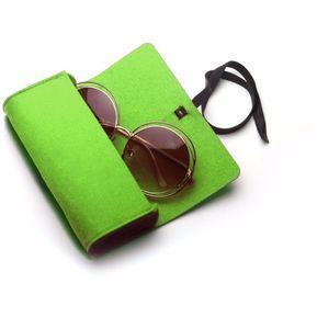 13ff6c84f6 Sentía Cremallera Caso Protector Para Gafas / Anteojos (verde)