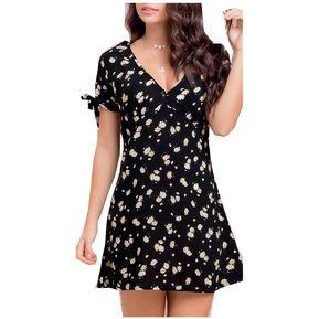 Vestido Corto Juvenil Marketing Personal Para Mujer -Estampado 79dfe90a980f