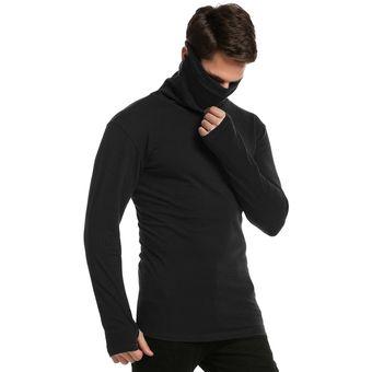 76c51871e66e3 Compra Camiseta Básica Slim Fit Cuello De Tortuga Para Hombre-Negro ...