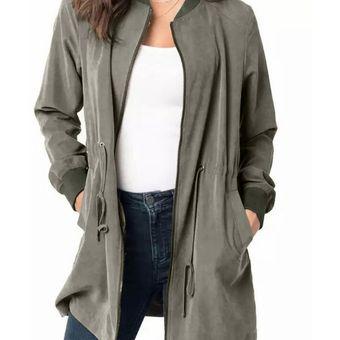De Linio Verde Largo Abrigo Para Fresca Moda Mujer Compra Online wHaEPq