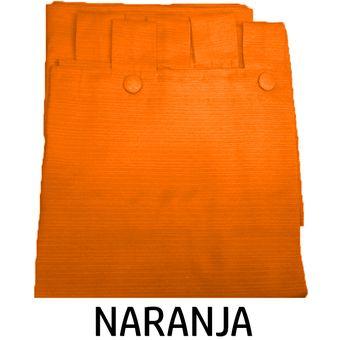 Cortinas Madras 140 X 210 NARANJA
