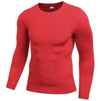 Camiseta Compresión Manga Hombre Gimnasio Corriendo Deportes Atléticos 323d5078884