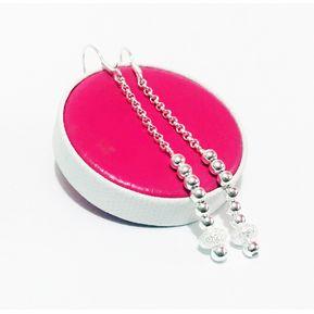 fa24f4bf70b7 Aretes Modelo Fashion Con Dona Diamantada En Plata 950