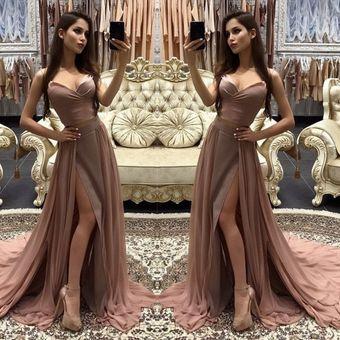 Vestido De Noche Largo Vestido Largo De Dos Piezas Con Falda Y Falda