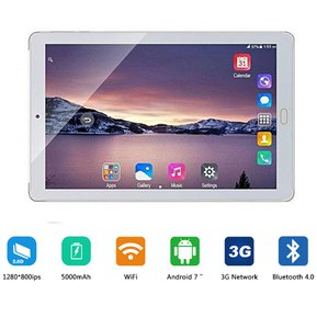 11ac12a6024 10.1 pulgadas de llamada de teléfono 3G 8 Core 64GB Tablet PC - plata