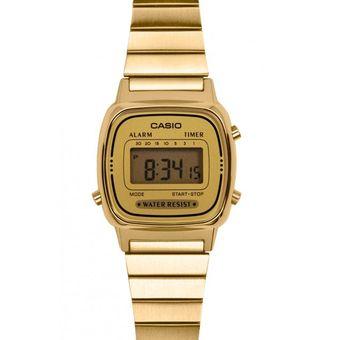Reloj digital casio dorado mujer precio