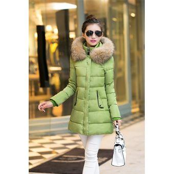 2a4261daff633 Chaquetas Mujer Abrigo De Invierno De Cuello De Piel De Abrigos Mujer