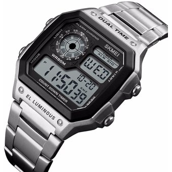 b2518037a227 Agotado Reloj SKMEI 1335 a prueba De agua deportes digital para hombres-  plata