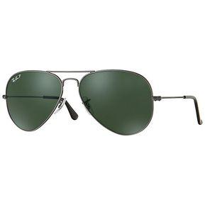ead6109446 Ray ban aviator rb 3025 004/58 gunmetal/verde oscuro g15 polarizado