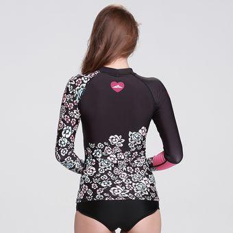 b1d43d638f059 Manga Larga Camisetas Surf De Mujer Traje De Baño Proteccion Solar Digital28