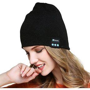 Gorro De Lana De Unisex Como Audifonos De Bluetooth E-Thinker - Negro c6ce7d4c0ea