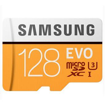 Memoria Micro SD EVO Samsung 128GB XC-Naranja