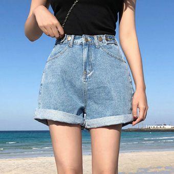 Cintura Alta Vintage Azul Ancho Pierna Mujer Shorts Vaqueros Para Mujer Pantalones Cortos De Mezclilla Casual Clasico De Verano Pantalones Cortos Vaqueros Para Las Mujeres Blue Linio Peru Un055fa1ebjwjlpe