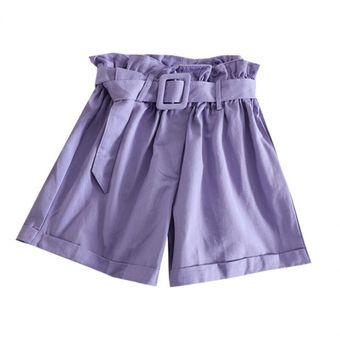Elegante Pantalones Cortos De Algodon Para Mujer De Sport De Bud Pan Menorpago