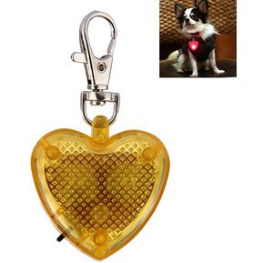 e8447f405a85 Fashion Heart Shaped Pet Dog Cat Safety Flash LED Collar Colgante (Amarillo)