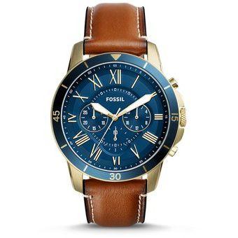 ebe8fe896b21 Compra Reloj Fossil FS5268 Piel Caballero -Dorado Café online ...