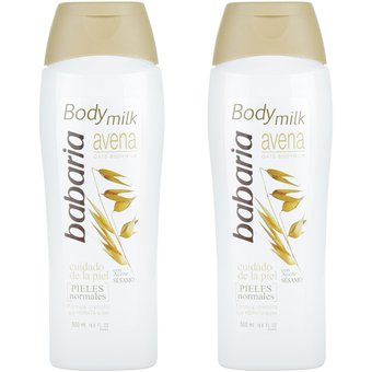 Compra Body Milk Babaria Avena Piel Normal 500 ml x 2 Unds online ... 45c39e1947f