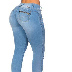 777ae6dfcb Jeans Levanta Cola Mujer Salomé Venus Black
