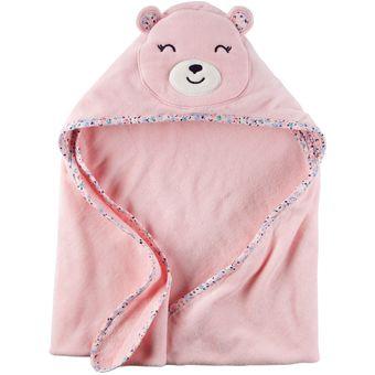30a5ba7fb4 Toalla Con Capucha Carter´s Para Bebé Niña De Algodón Figura De Osita -  Rosado