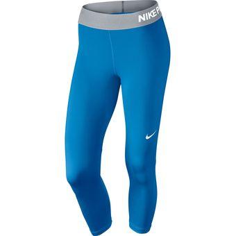 eba0d83759a56 Compra Licra Deportiva Mujer Nike Training Capri Compression-Azul ...