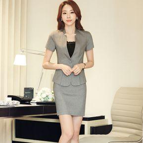 Trajes Para Mujer Faldas Y Sacos Formales De Oficina Y Negocio - Gris b5cd53516332