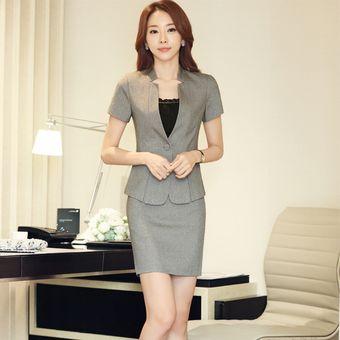 9ad5e2148 Trajes Con Chaleco Para Mujer Faldas Y Sacos Formales De Oficina Y Negocio  - Gris