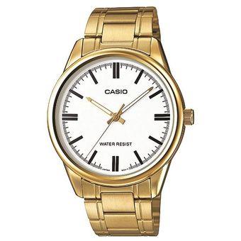 0530424764d0 Compra Reloj Casio MTPV005G7A Dorado Malla Acero Inoxidable online ...