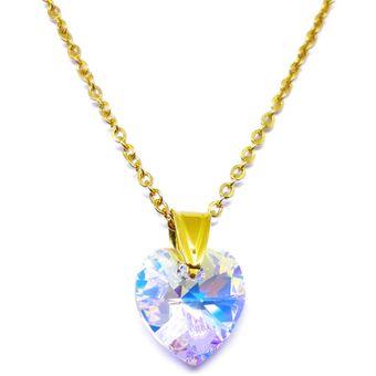 c14247e13887 Compra Fernanda Romero - Collar Corazón Aurora Boreal Con Cristales ...